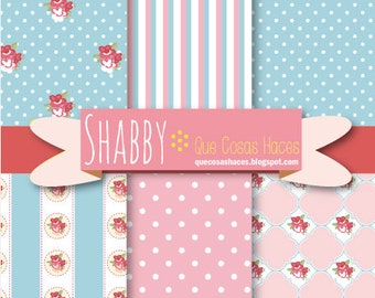 6 Digital printable paper, digital shabby paper, Shabby background, Chic digital paper, Cottage chic, Shabby paper, Shabby digital paper