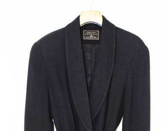 Navy Tie Waist Jacket