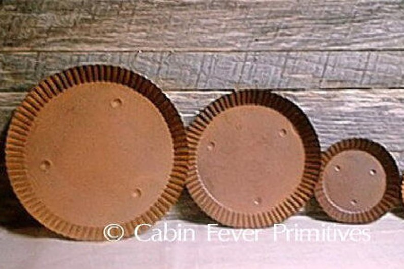 Rusty Tin Candle Pans create your own candle gift set image 0
