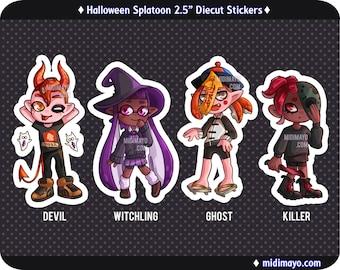 Splatoon Halloween Die Cut Stickers
