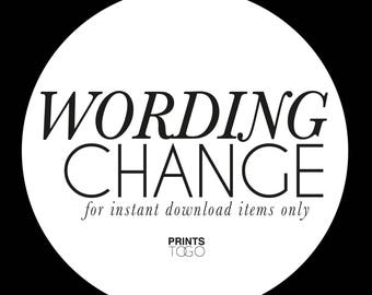 Wording Change for Instant Downloads ONLY