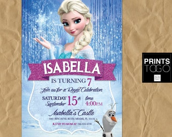 Frozen Birthday Invitation Etsy