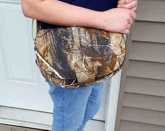 Ready to Ship: Camouflage Rosie Cross Body Bag, Rosie bag, camo bag, Cross Body bag