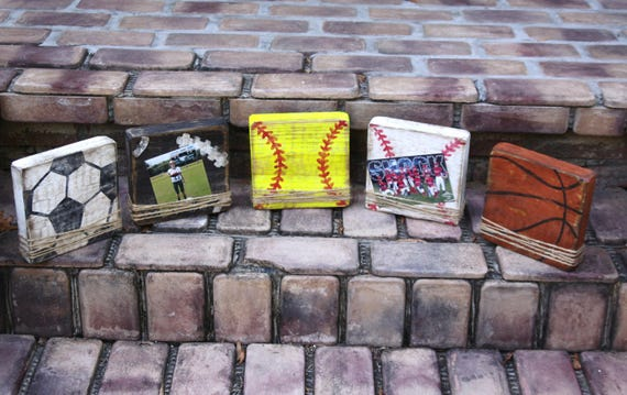 Block Picture Frame Sports Themed Picture Frames Handmade Etsy