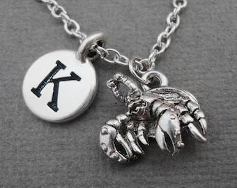 Hermit Crab Necklace, Hermit Crab Bangle Bracelet, Hermit Crab Keychain Keyring, Decapod Crustacean Childrens Pet Jewelry, Hermies Charm