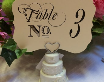 Baroque Table Number Card