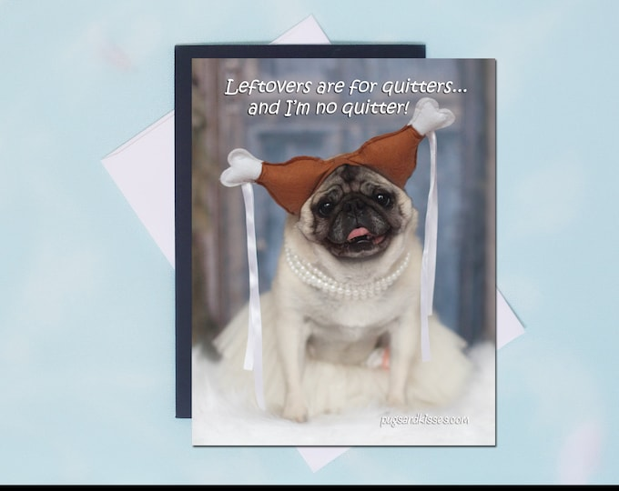 Pug Magnet - Leftovers - 4x5 Pug magnet by Pugs and Kisses