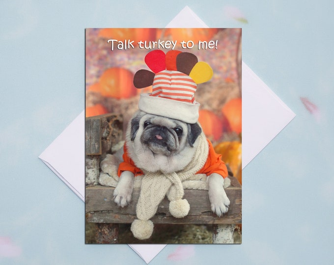 ALL NEW!! Funny Thanksgiving Card - Talk Turkey To Me  - 5x7