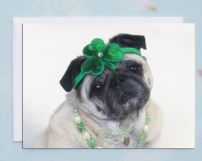 You Are the Pot of Gold - St. Patrick's Day Pug Card by Pugs and Kisses