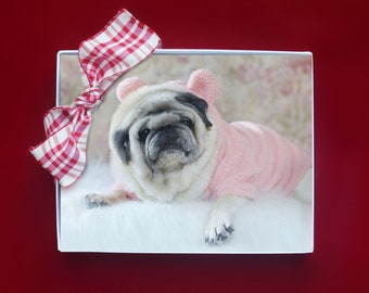 Note Card Set ~ Perfect Gift for Pug Lovers!  - Snuggle Pugs Note Cards - 8 Assorted Pug Note Cards - 4x5