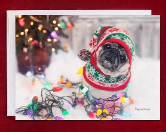 Funny Holiday Card - Nailed It - Pug Holiday Card - 5x7