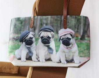 Classic PUG BAG - Hats and Ties - Pugs and Kisses