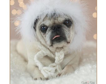Cute Hanukkah Card - Pug Holiday Card - May Every Candle You Light - 5x7