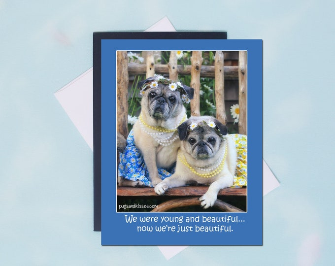 Pug Magnet SALE - Just Beautiful - Funny Pug Magnet - by Pugs and Kisses