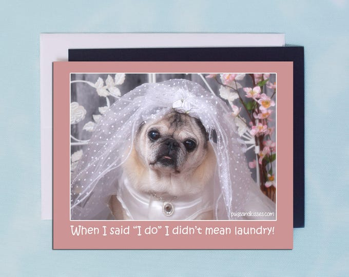 Pug Magnet - I Do- 5 x 4 Pug magnet - by Pugs and Kisses