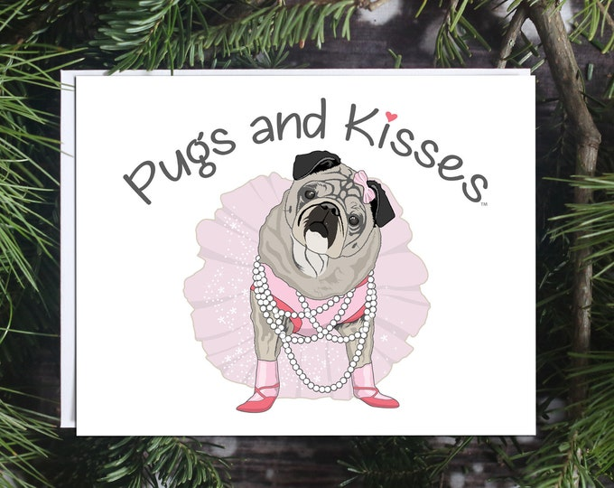 ALL NEW Pug Magnet - P+K LOGO - 5x4 Pug magnet by Pugs and Kisses