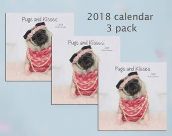 PACK of 3 - 2018 Wall CALENDAR