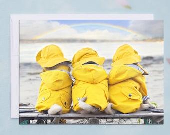 NEW SYMPATHY Card - The Rainbow Bridge - 5x7 Pug Sympathy Card by Pugs and Kisses