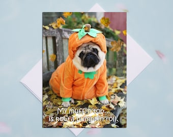 ALL NEW!! Funny Thanksgiving Card - My Muffin Top  - 5x7