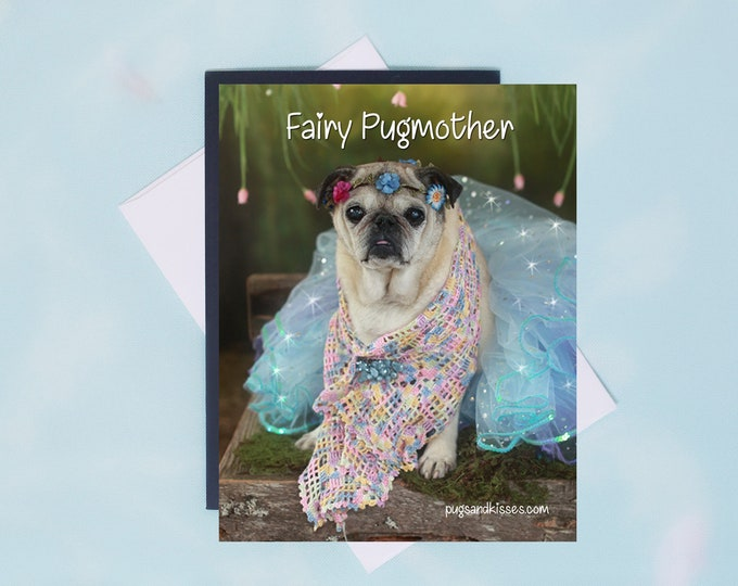Pug Magnet - Fairy Pugmother - 4x5 Pug magnet - by Pugs and Kisses