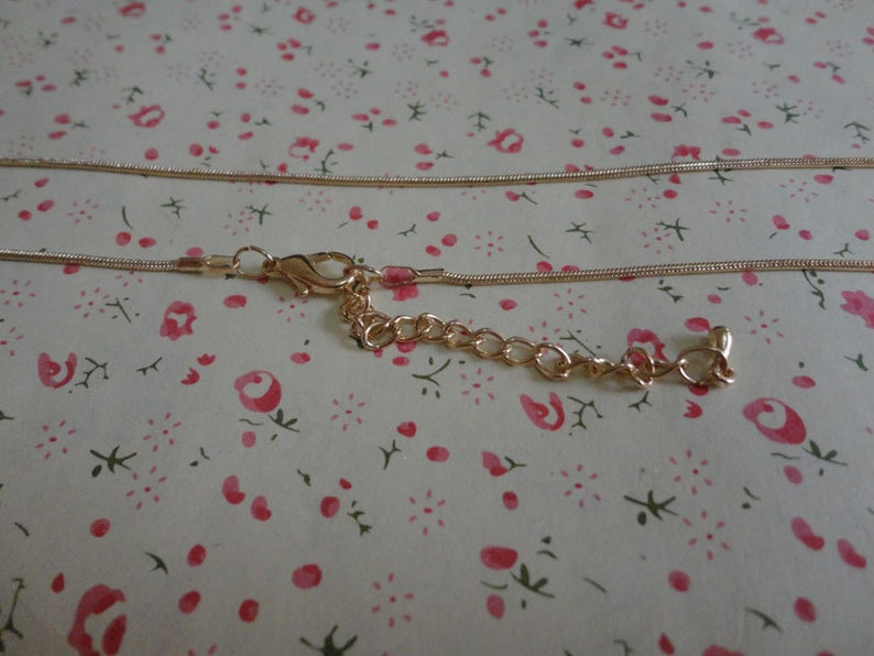 20pcs 1.2mm 16.5 inch gold snake chain necklace chain with lobster clasp with 2 inch extension chain