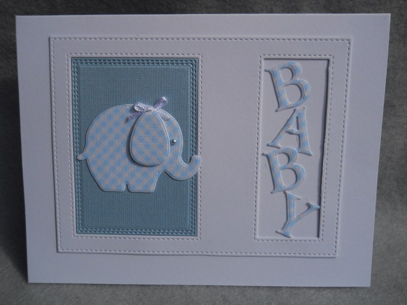 baby boy card card for baby blue baby card,new baby welcome baby card blue checked tiny elephant Baby card baby boy gift card