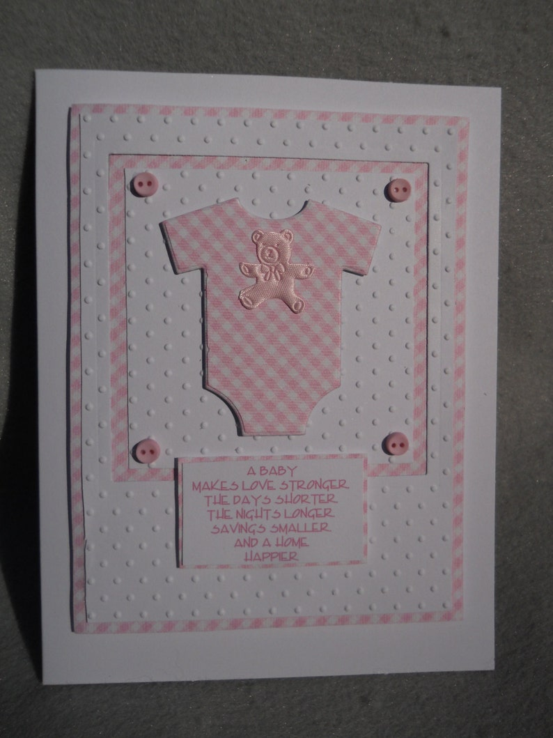 241e8dba3 Baby girl card onesie baby girl card w baby onesie baby | Etsy