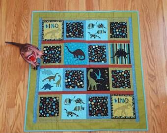Bedrock Dinosaur ~ Crib Quilt/Baby Quilt/Baby Shower Gift/ Boy Quilt/Handmade Quilt