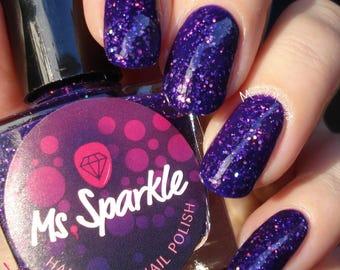 Oma ~ maanlicht vlucht collectie mijn Neighbor Totoro Indie nagellak Violet paars Glitter Jelly 10ML aanbieding