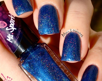 Spencer~Pretty Little Liars Inspired Collection Indie Nail Polish Royal Blue Linear Holo Limited Edition 10ML