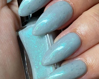 Scales~Mermaids Attitude Collection Limited Edition/Small Batch Indie Nail Polish Gray Shimmer 10ML