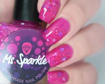 Prinses kak ~ prinses Chronicles Duo Indie nagellak roze Glitter Jelly 10ML Limited Edition