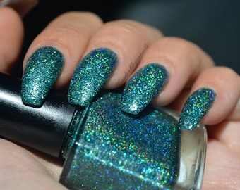 Manhattan zeemeerminnen ~ Galaxy Gals Indie nagel Poolse Holo Teal groen 10ML
