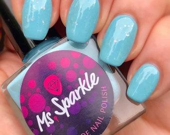 Ik heb moe nooit van de blauwe hemel-Spring ' 18 collectie Indie nagel Poolse blauwe Crelly Creme 10ML