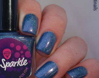Even The Leaves Fall For You!~Fall 2017 Collection Indie Nail Polish Navy Blue Crelly Holo UCC Flakies 10ML