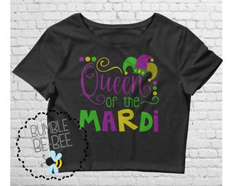 Mardi Gras top Mardi Gras Crop Top ladies mardi gras shirt Women's Crop Tee