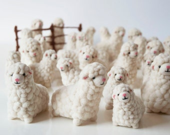 Maggie the sheep. An original needle felted soft sculpture. Handmade in England, made to order.