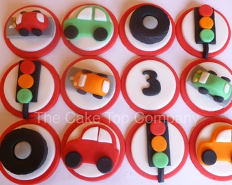 Fun Car Toppers - Cars, Traffic Lights and Tyres