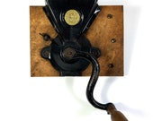 Antique Coffee Grinder by Peck, Stow Wilcox circa 1800s, Wall Mount Side Grinder Vintage Rustic Primitive Kitchen Decor