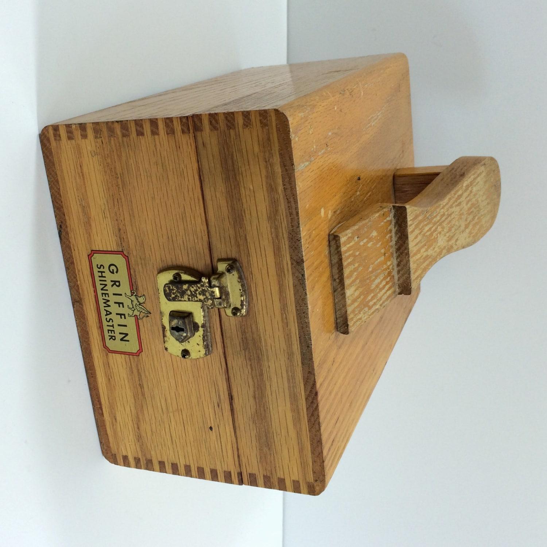 Vintage Griffin Shinemaster Wooden Shoe Shine Box | Etsy