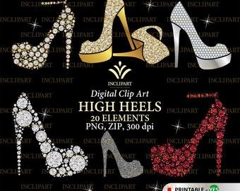 69b1766200769 High heels clipart | Etsy