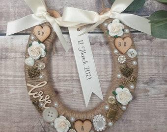 Personalised Wedding Horseshoe Lucky Horseshoe Gift