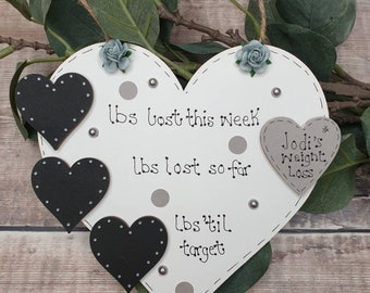 Weightloss board, weight loss chalkboard, Weightloss plaque, New Years resolution, slimming world, Weight tracker, personalised