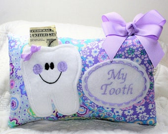 9e4e7fc4e86eb9 Tooth Fairy Pillow - Personalized Pillow - Pocket Pillow - Girls Tooth  Fairy Pillow - Personalized Gift - Gift under 30 - Girls Tooth Pillow