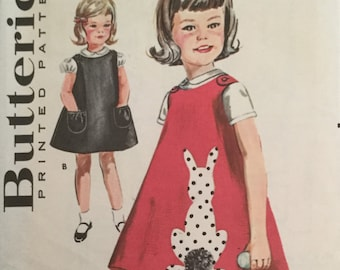 """Sewing Pattern, Girls  dress pattern, Vintage  Pattern, 1950s  sewing pattern, Size 4, breast 3"""", sleeve piece view A missing"""