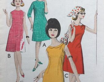 Sewing pattern - dress pattern - shift dress -  vintage sewing pattern - 1960s - Multi Size Bust  34,36,38, women's sewing pattern