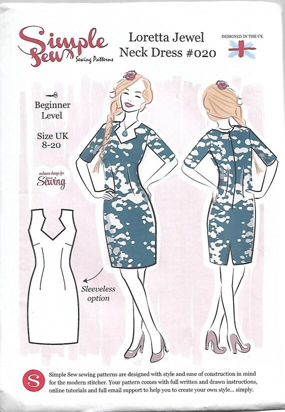 Sewing Pattern Dress Pattern Easy Dress Pattern Size 8 Etsy