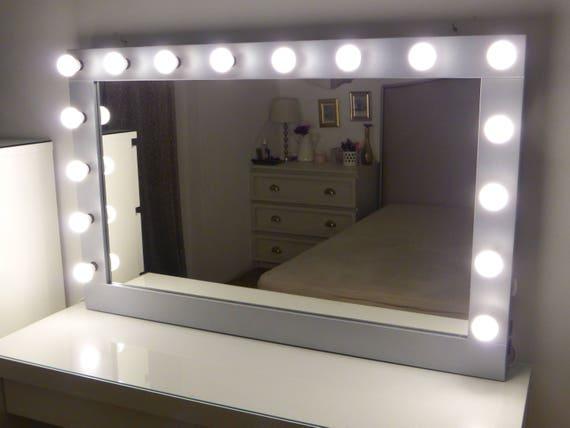 Xl Hollywood Vanity Mirror Etsy