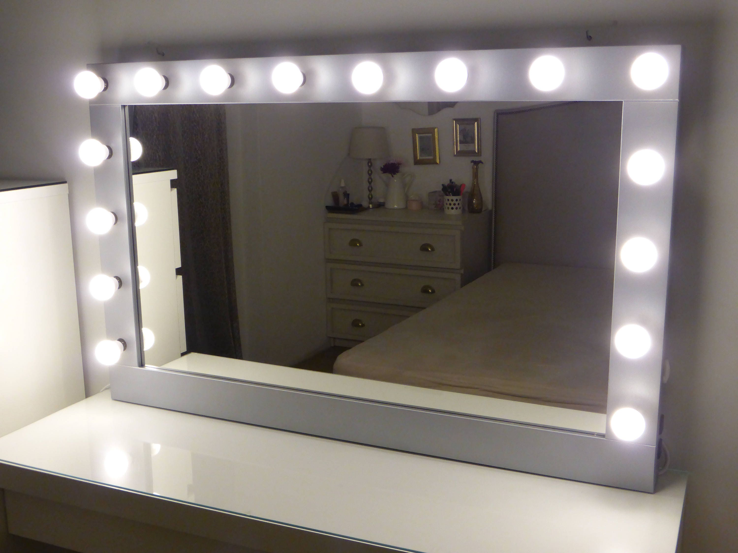 Xl Hollywood Vanity Mirror Etsy