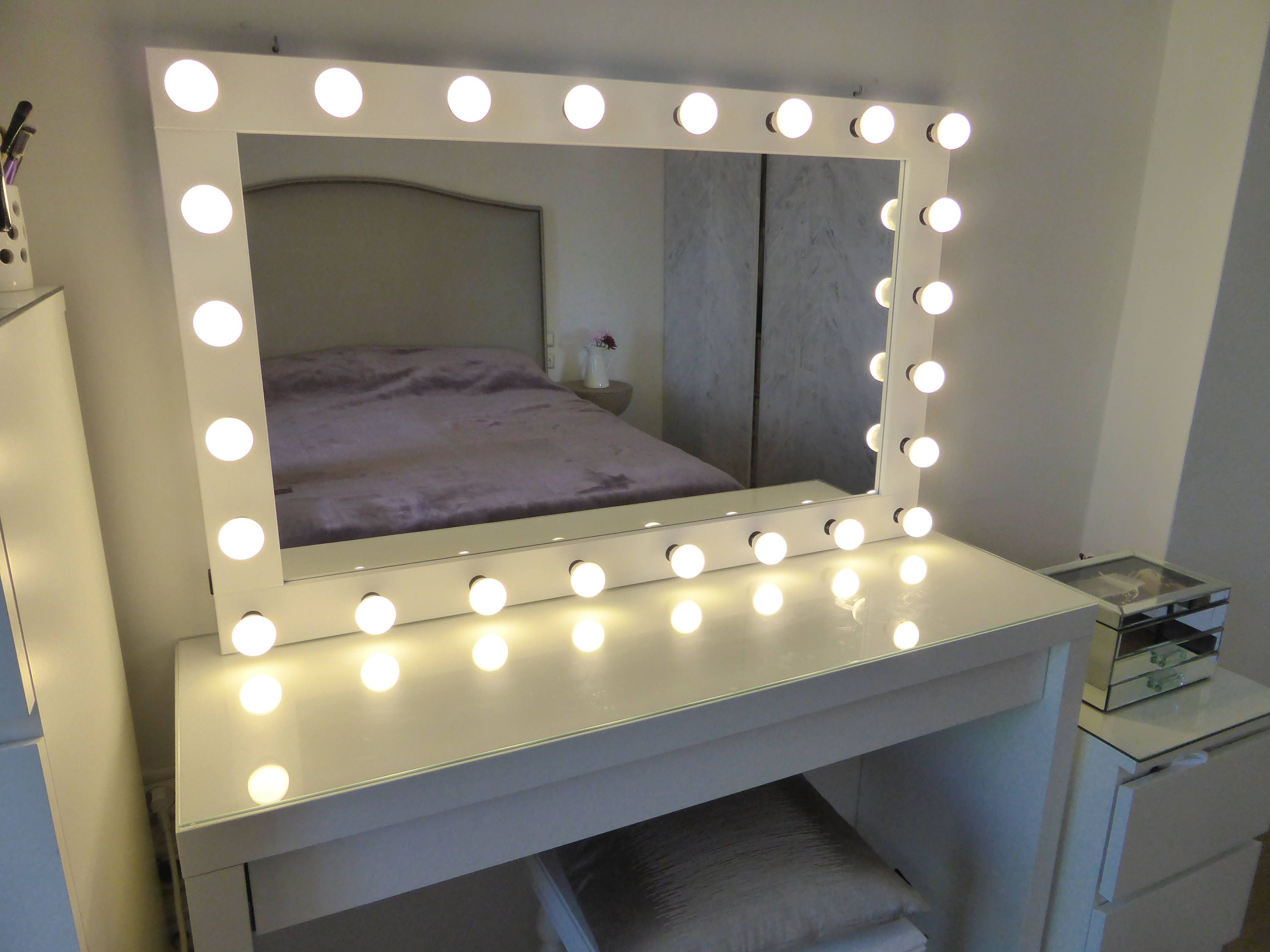 Xl Hollywood Vanity Mirror 43x27 Makeup Mirror Etsy